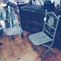 Antique Metal Folding Chairs