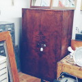 Steel Office Cabinet, Painted To Look Like Wood