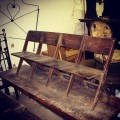 Old Wooden Theatre Seats