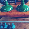 2 Industrial China Hat Lights