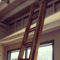 Old Wood Extension Ladder