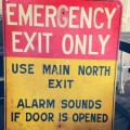 Old Emergency Exit Sign
