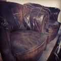 Two 19th century Leather Club Chairs