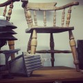 Two Wooden Wycombe Armchairs