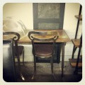 Four Metal Repro. Chairs