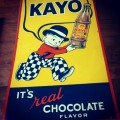 Kayo Embossed Metal Sign