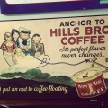 Hills Bros Coffee Old Paper Sign