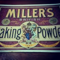 Miller's Baking Powder Old Paper Sign
