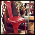 Red Metal Reproduction Chair
