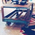 Detail: Industrial Cart, on wheels
